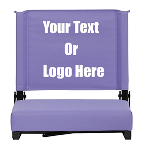 "Custom Personalized Durable Stadium Chair with 3"" Thick Comfortable Cushion 