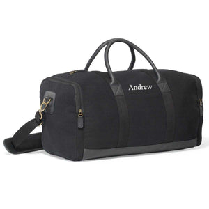 Personalized Heavy Canvas Weekender Duffel Bags | JDS