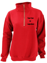 Custom Personalized Design Your Own Vintage 1/4 Zip Pull-Over Sweatshirt