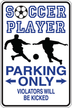 Load image into Gallery viewer, Personalized Novelty Sports Player Parking Sign, Bedroom Signs, Funny Gift Signs | DG Custom Graphics
