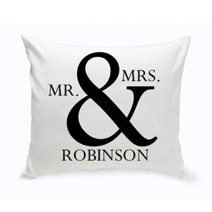 Personalized Mr & Mrs Throw Pillow | JDS