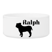 Load image into Gallery viewer, Personalized Man's Best Friend Silhouette Large Dog Bowl | JDS
