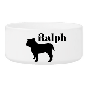 Personalized Man's Best Friend Silhouette Large Dog Bowl | JDS