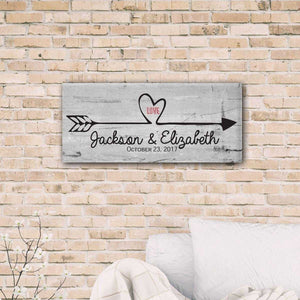 Follow Your Heart Personalized Canvas Print | JDS