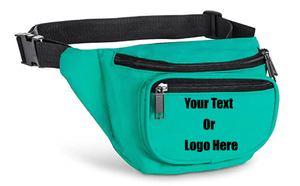 Custom Personalized 3 Zippered Compartments Adjustable Waste Sport Fanny Pack | DG Custom Graphics