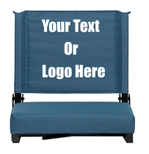 "Load image into Gallery viewer, Custom Personalized Durable Stadium Chair with 3"" Thick Comfortable Cushion 