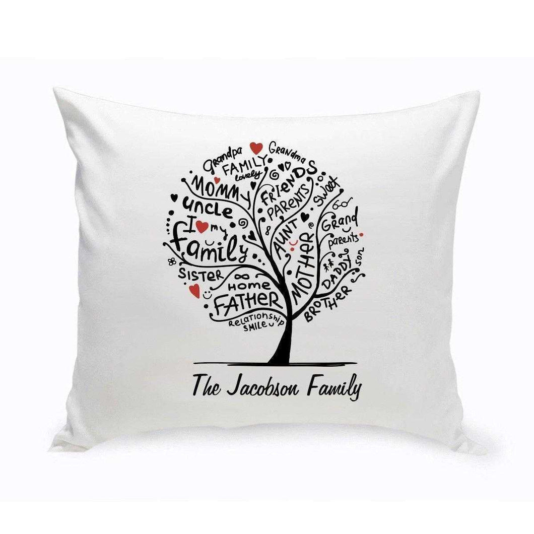 Personalized Family Roots Throw Pillow | JDS