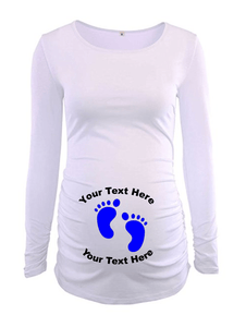 Custom Personalized Designed Long Sleeve Maternity T-shirt | DG Custom Graphics