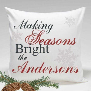 Personalized Holiday Throw Pillows - Making Seasons Bright | JDS