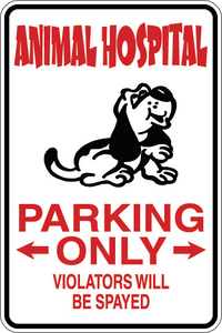 Personalized Novelty Pet Parking Sign, Animal Lover Signs, Funny Gift Signs | DG Custom Graphics