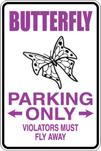 Load image into Gallery viewer, Personalized Novelty Pet Parking Sign, Animal Lover Signs, Funny Gift Signs