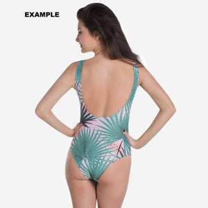 Your Personal Design All Over One Piece Bathing Swim Suit | DG Custom Graphics
