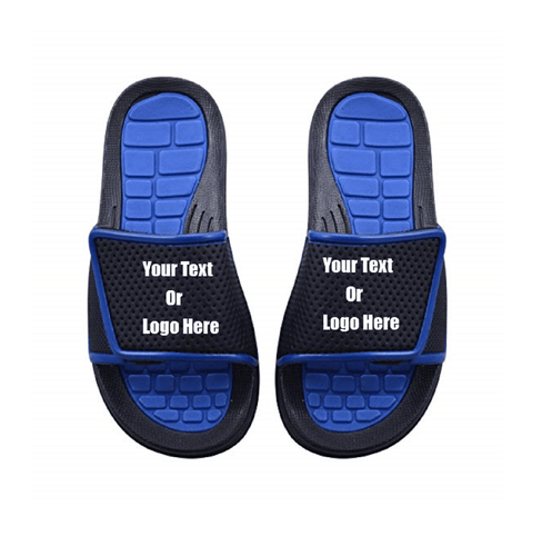 Custom designed girl & boys (kids) athletic slides with your personal or business logo. | DG Custom Graphics