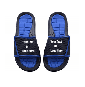 Custom designed girl & boys (kids) athletic slides with your personal or business logo.