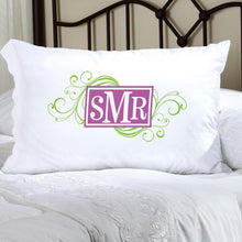 Load image into Gallery viewer, Personalized Felicity Cheerful Monogram Pillow Case | JDS