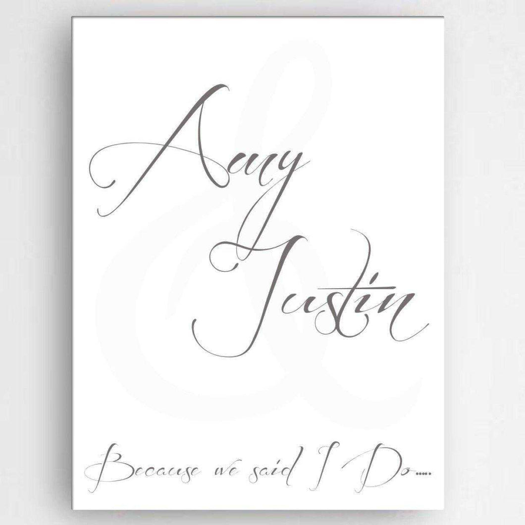 Personalized Love & Romance Canvas Sign | JDS