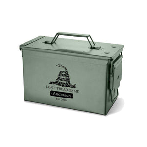 Personalized Ammo Box - Recon - Metal - Multiple Designs | JDS
