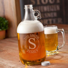 Load image into Gallery viewer, Personalized Growler - Beer - Glass - 64 oz. | JDS
