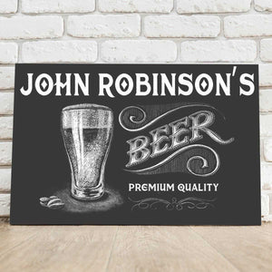 Personalized Premium Beer Canvas Sign | JDS