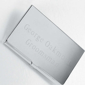 Personalized Business Card Holder - Silver Plated - Executive Gifts | JDS