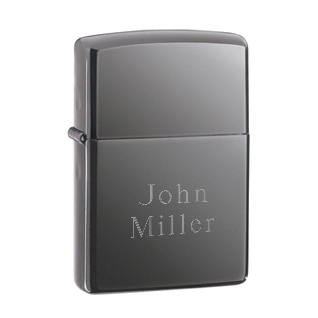 Personalized Lighters - Zippo - Black Ice - Groomsmen Gifts | Zippo
