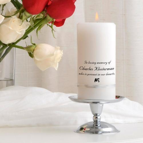 Personalized Memorial Candle Set | JDS