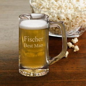 Personalized Beer Mugs - Groomsmen - Sports Mug - 12 oz. | JDS