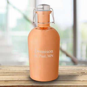 Personalized Copper 64oz Growler | JDS