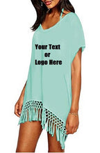 Load image into Gallery viewer, Custom Personalized Designed Women's Bohemia Printing Top Beach Bikini Cover-ups