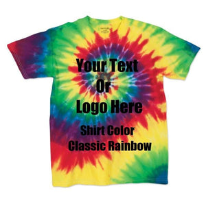 Custom Designed Personalized Tie Die T-shirts