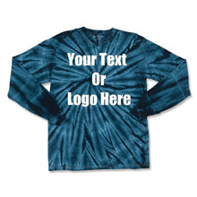 Load image into Gallery viewer, Custom Personalize Design Your Tie Dye Long Sleeve T-shirt | DG Custom Graphics