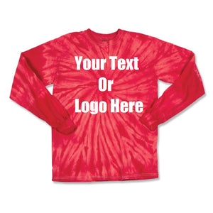 Custom Personalize Design Your Tie Dye Long Sleeve T-shirt | DG Custom Graphics
