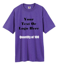 Load image into Gallery viewer, Custom Personalized Design Your Own T-shirt (lot Of 100)