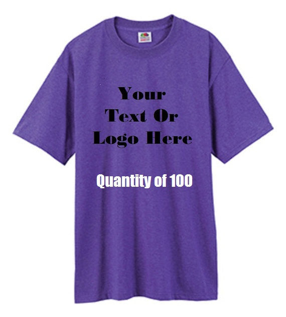 Custom Personalized Design Your Own T-shirt (lot Of 100)