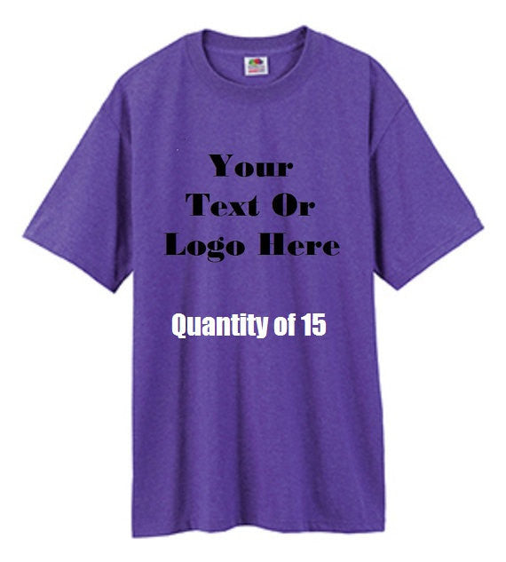 Custom Personalized Design Your Own T-shirt (lot Of 15) | DG Custom Graphics