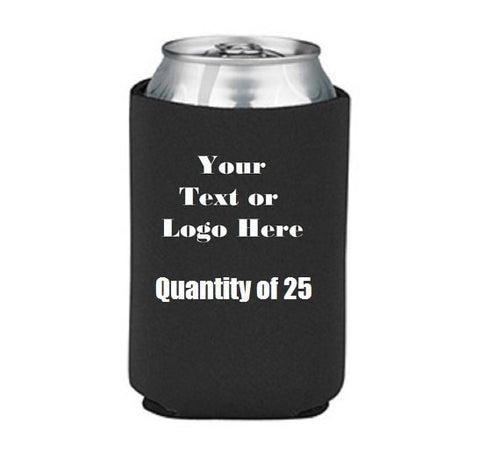 Custom Personalize Your Own Can Cooler (lot Of 25) | DG Custom Graphics