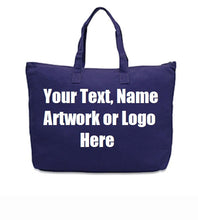 Load image into Gallery viewer, Custom Personalized Cotton Canvas Tote Bag | DG Custom Graphics