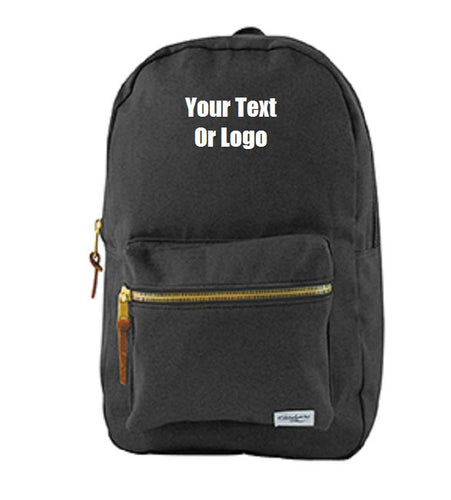 Custom Personalized Cotton Canvas Backpack. Great For School Or College.