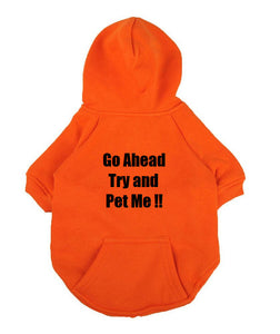 Custom Personalized Design Your Own Dog Hoodie Sweatshirt (pet Clothing)