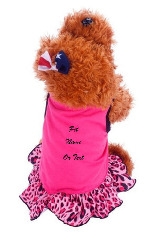 Custom Personalize Design Your Pet Puppy Small Dog Skirt Princess Tutu Dress (Pet Clothing) | DG Custom Graphics