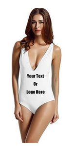 Custom Personalized Designed One Piece Bathing Swim Suit