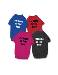 Custom Personalize Design Your Dog T-shirt (pet Clothing) | DG Custom Graphics