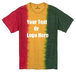 Custom Personalize Design Your Rasta Tie Dye T-shirt | DG Custom Graphics