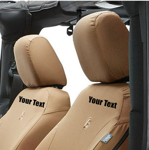Custom Personalized Jeep Wrangler Seat Covers (front Seats) | DG Custom Graphics