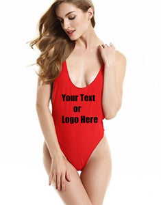 Custom Personalized Designed Sexy Backless One Piece Bathing Swim Suit | DG Custom Graphics