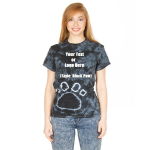 Custom Designed Personalized Tie Dye Paw T-shirts | DG Custom Graphics