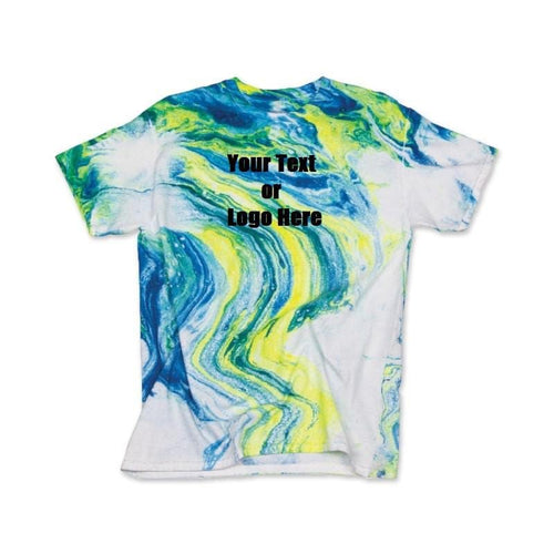 Custom Designed Personalized Tie Dye Marble T-shirts