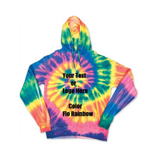 Load image into Gallery viewer, Custom Personalize Design Your Spiral Tie Dye Hoodie | DG Custom Graphics