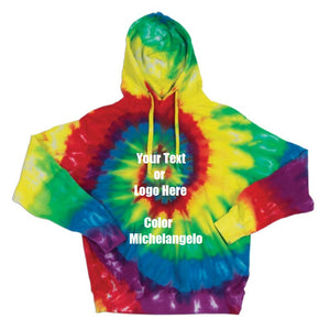 Custom Personalize Design Your Spiral Tie Dye Hoodie