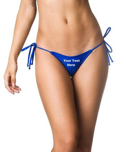 Load image into Gallery viewer, Custom Personalized Designed Women's Sexy Mini Brazilian Bikini String Thong Swimsuit Bottom Crock | DG Custom Graphics